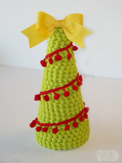 Pom Pom Christmas Trees - The Ribbon Retreat Blog