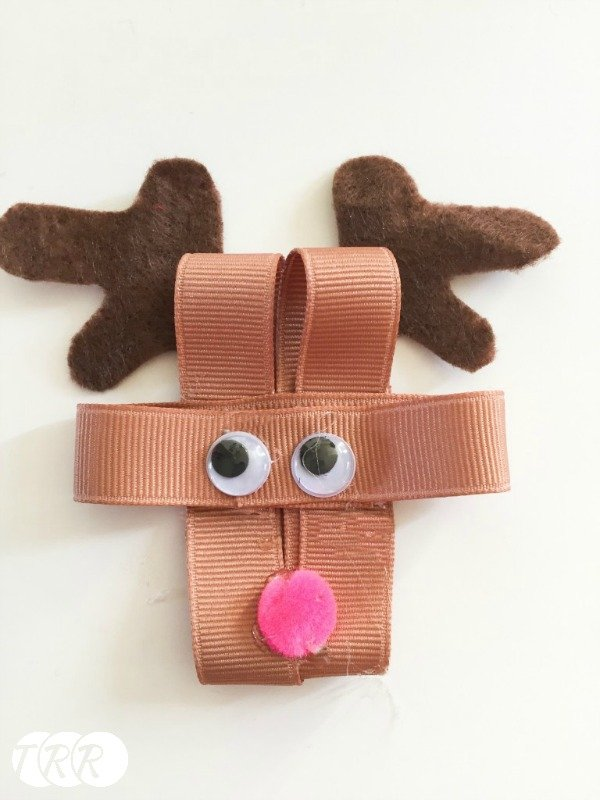 Reindeer Hair Bow - The Ribbon Retreat Blog