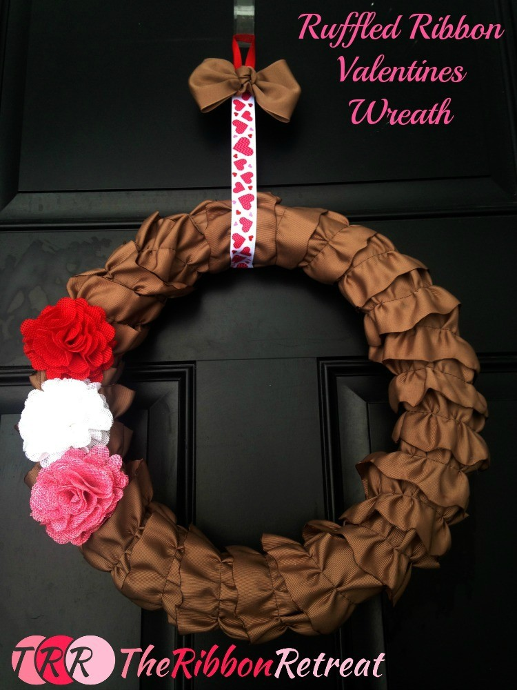 Ruffled Ribbon Valentines Wreath - The Ribbon Retreat Blog