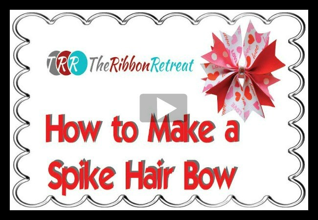 How To Make A Spike Hair Bow, YouTube Thursday - The Ribbon Retreat Blog