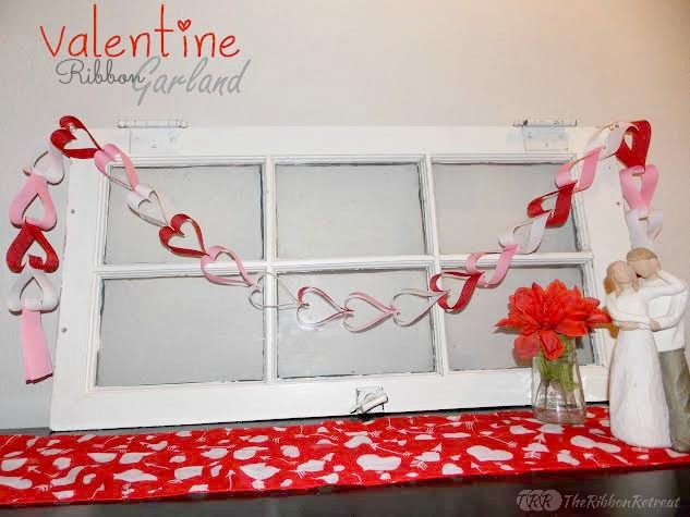 Valentine Ribbon Garland - The Ribbon Retreat Blog