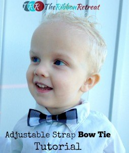 Adjustable Strap Bow Tie - The Ribbon Retreat Blog