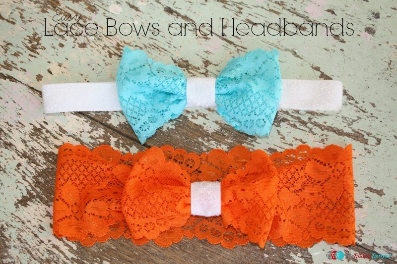 Easy Lace Bows and Headbands - The Ribbon Retreat Blog