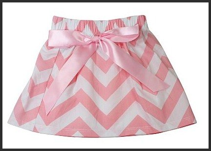Little Miss Skirt, Chevron Pink