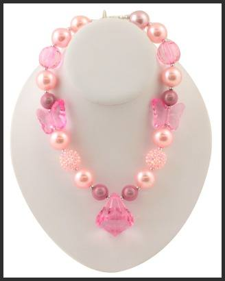Pink Pizzazz Chunky Necklace