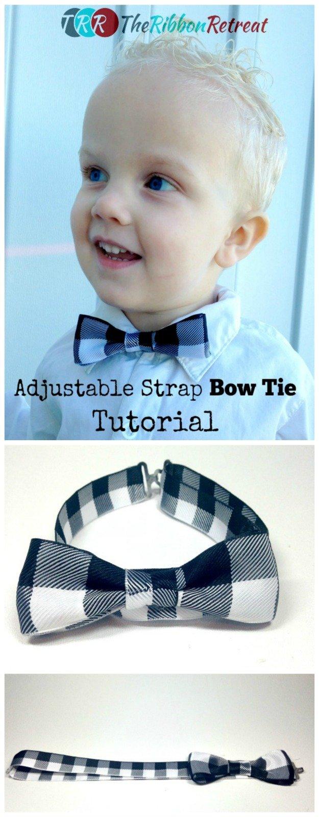 Adjustable Strap Bow Tie Tutorial The Ribbon Retreat Blog Howtotiethebowtieknottyinginstructionspng