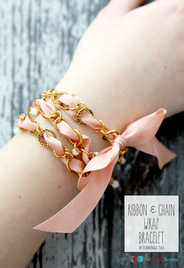 Vintage Ribbon and Chain Wrap Bracelet - The Ribbon Retreat Blog