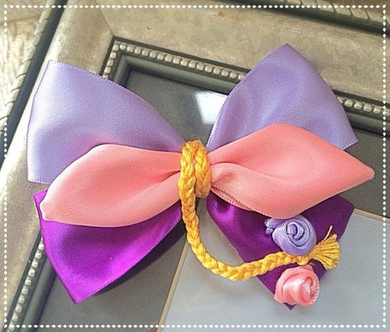 Rapunzel Hair Bow, Bows Show-N-Tell Link Party #4 Winners - The Ribbon Retreat Blog