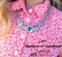 Gem Necklace or Headband Tutorial