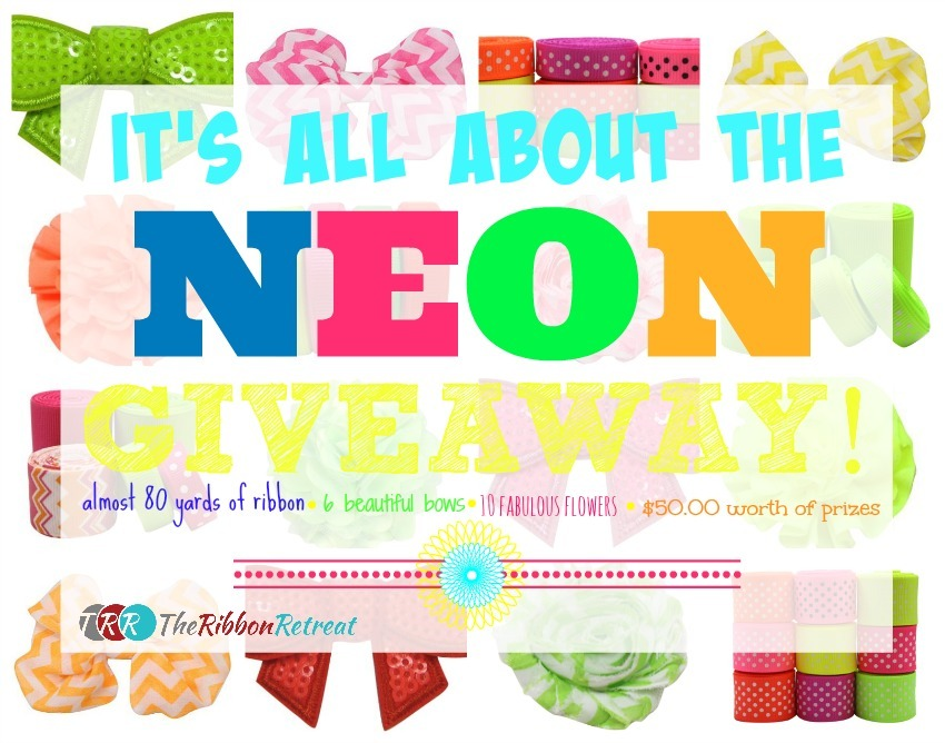 It's All About The Neon Giveaway - The Ribbon Retreat Blog