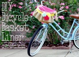 DIY Bicycle Basket Liner, 2nd Blogger Competition #4