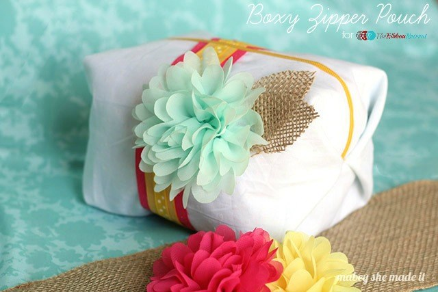 Boxy Zipper Pouch, 2nd Blogger Competition #1 - The Ribbon Retreat Blog