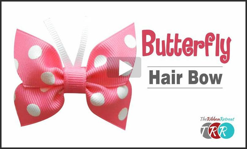 Butterfly Hair Bow, YouTube Thursay - The Ribbon Retreat Blog