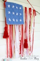 Lace and Ribbon Rustic USA Flag