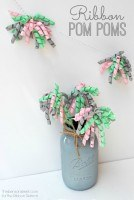 Mini Ribbon Pom Poms