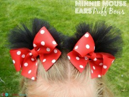 Minnie Mouse Ears Puff Bows