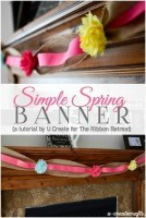 Simple Spring Banner, 2nd Blogger Competition #3