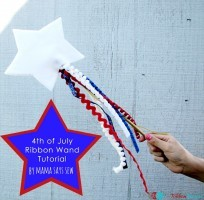 4th of July Ribbon Wand