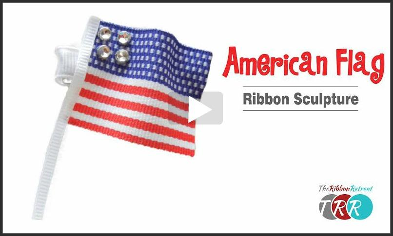 American Flag Ribbon Sculpture, YouTube Thursday - The Ribbon Retreat Blog