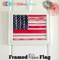 Framed Ribbon Flag