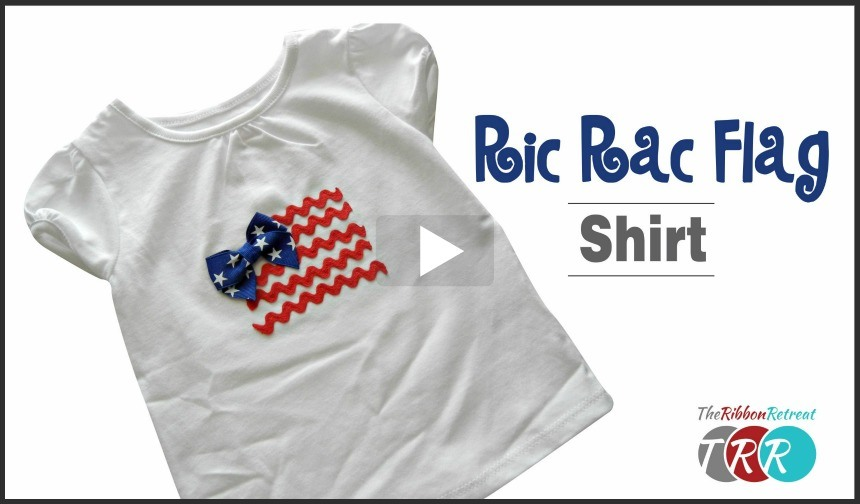Ric Rac Flag Shirt, YouTube Thursday - The Ribbon Retreat Blog
