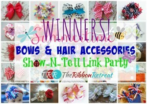 Summertime Bows Link Party Winners - The Ribbon Retreat Blog