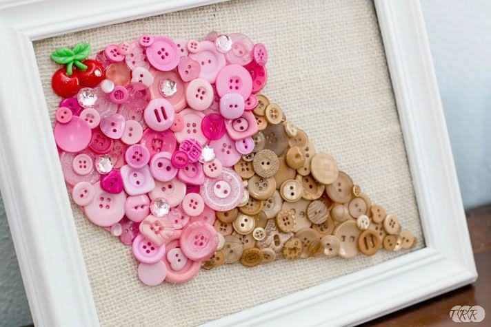 Ice Cream Cone Button Art - The Ribbon Retreat Blog