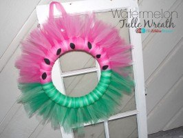 Watermelon Tulle Wreath