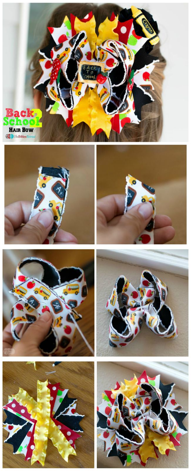 Back To School Hair Bow - The Ribbon Retreat Blog