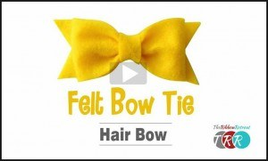 Felt Bow Tie Hair Bow, YouTube Thursday - The Ribbon Retreat Blog