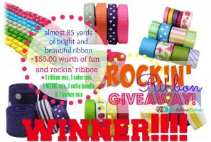 Rockin' Ribbon Giveaway Winner!