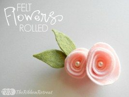 Felt Rolled Flower Tutorial