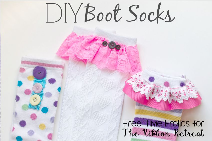 DIY Boot Socks - The Ribbon Retreat Blog