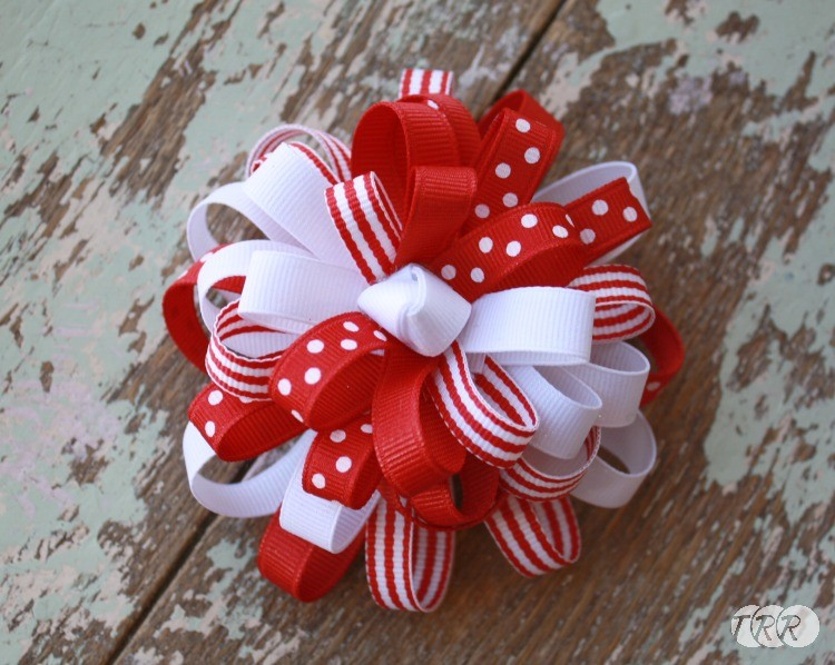 How to Make a Flower Loop Hair Bow - The Ribbon Retreat Blog