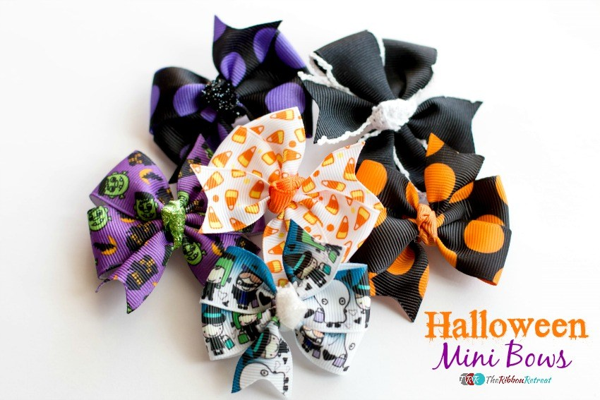 Halloween Mini Bows - The Ribbon Retreat Blog