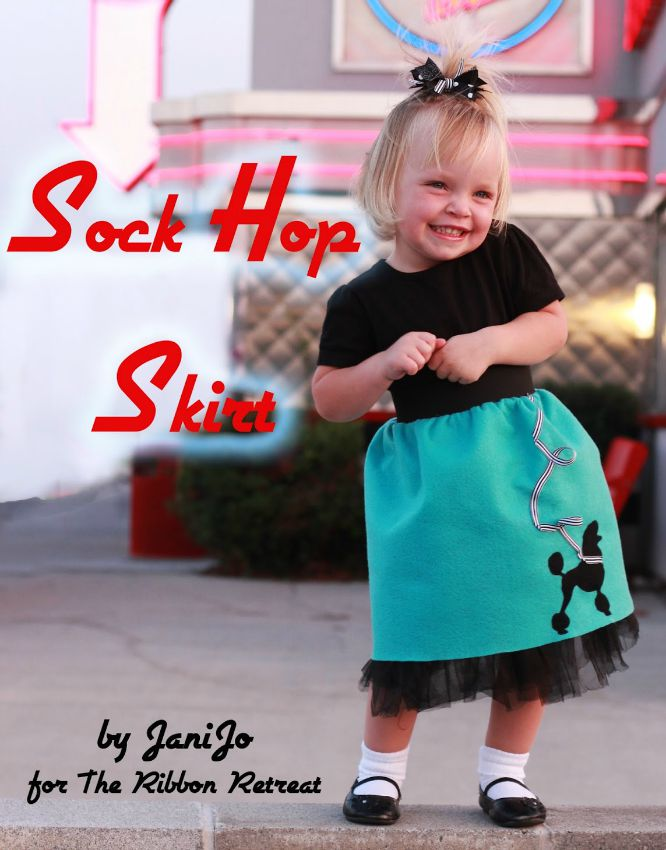 Sock Hop Poodle Skirt - The Ribbon Retreat Blog