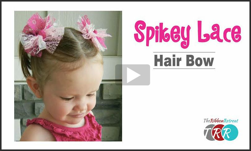 Spikey Lace Hair Bow, YouTube Video
