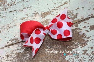 Two Color Twisted Boutique Hair Bow - The Ribbon Retreat Blog