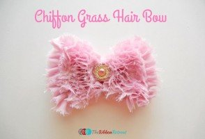 Chiffon Grass Hair Bow