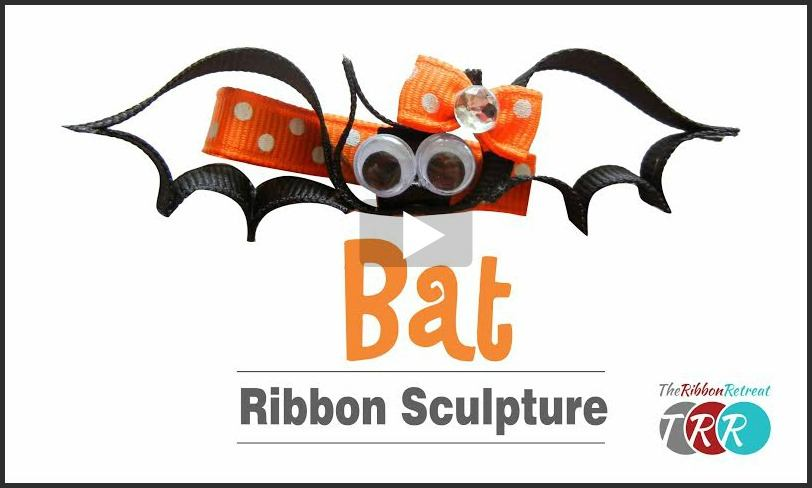 Bat Ribbon Sculpture, YouTube Video - The Ribbon Retreat Blog