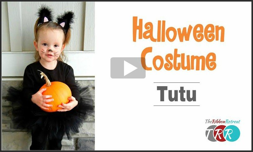 Halloween Costume Tutu, YouTube Video - The Ribbon Retreat Blog