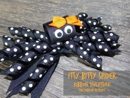 Itsy Bitsy Spider Ribbon Sculpture