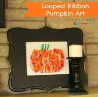 Looped Ribbon Pumpkin Art