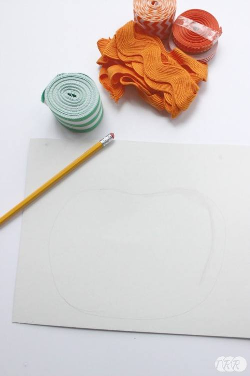 Looped Ribbon Pumpkin Art - The Ribbon Retreat Blog
