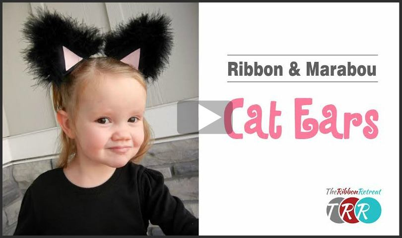 Ribbon and Marabou Cat Ears, YouTube Video - The Ribbon Retreat Blog