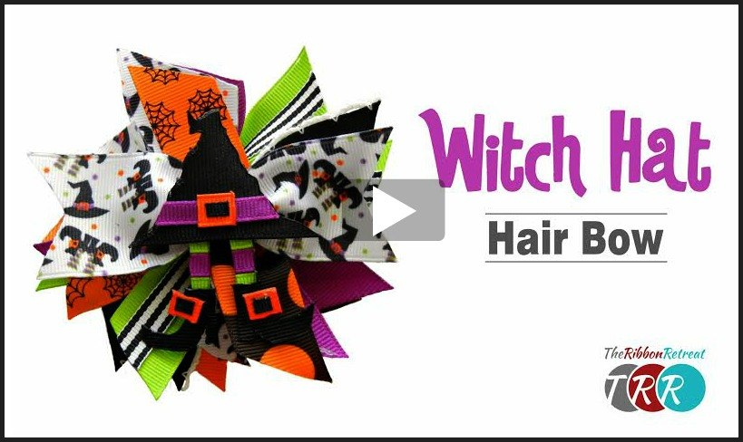Witch Hat Hair Bow, YouTube Video