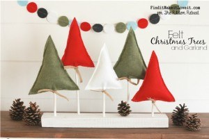 Felt Christmas Trees and Garland