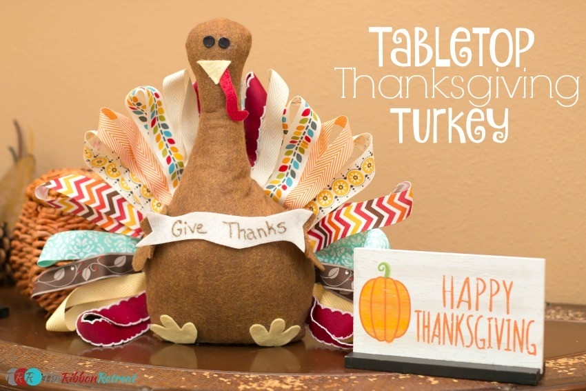Tabletop Thanksgiving Turkey - The Ribbon Retreat Blog