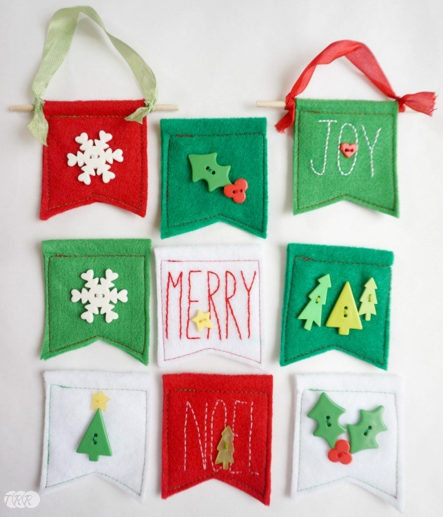 Felt Banner Ornaments - The Ribbon Retreat Blog