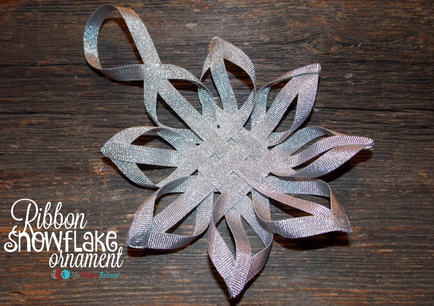 Ribbon Snowflake Ornament - The Ribbon Retreat Blog
